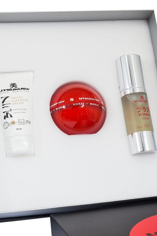 set de cuidado diario de la piel para arrugas y manchas