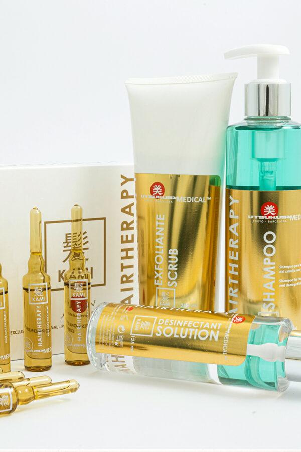 set de cuidado capilar utsukusy cosmetics