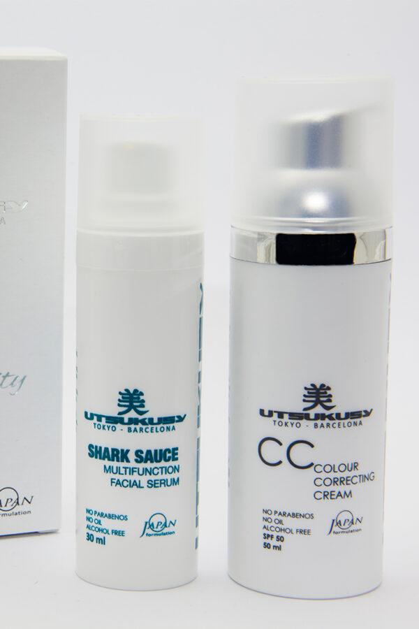 set skin care con serum y crema color