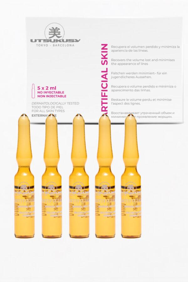 Ampollas Artificial skin relleno de arrugas.